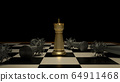 The gold chess and virus on boardgames 3d rendering for strategy concept. 64911468