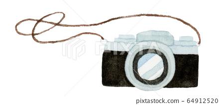 手繪水彩|相機插圖 64912520