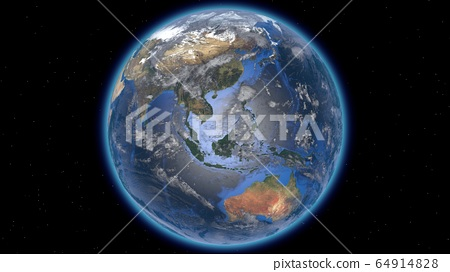 Beautiful planet Earth in space against the 64914828