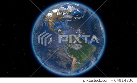 Beautiful planet Earth in space against the 64914830