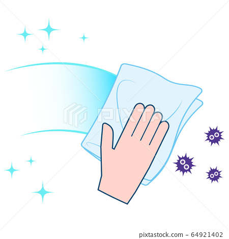 Illustration of hands cleaning sanitization 64921402