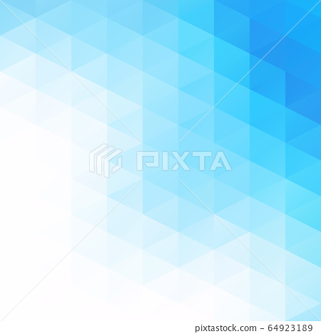 Blue Grid Mosaic Background, Creative Design 64923189
