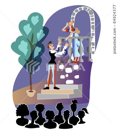 Theater performance flat vector illustration 64924377