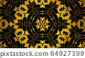 Art deco black and gold color pattern, rich, luxury vintage background, cover design for business card 64927399