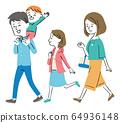 산책하는 가족 64936148