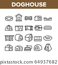 Doghouse Accessory Collection Icons Set Vector 64937682