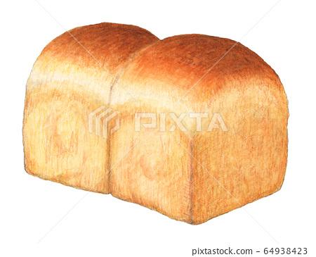 山形麵包,手繪水彩 64938423