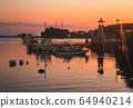 히로시마 현 후쿠야마시 일본 유산 · 도모 노우 라 황혼의 항구 도시와 야간 조명 64940214