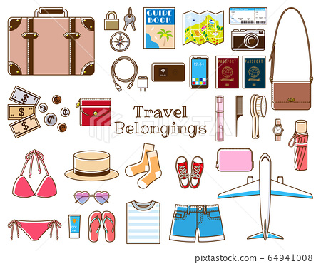 Overseas travel set_woman 64941008