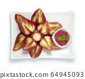 Rose Apple Fruit Break Carved leaf style Served 64945093