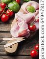 Italian traditional prosciutto with tomato and 64947817