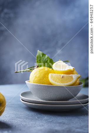 Fresh Sicilians lemons 64948257