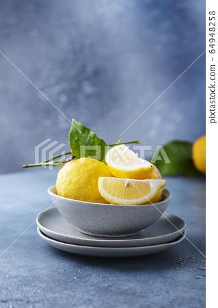Fresh Sicilians lemons 64948258