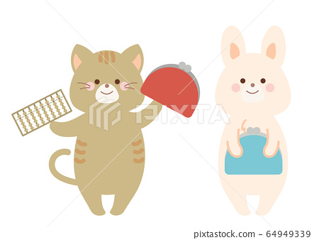 經濟圖案兔子和貓 64949339