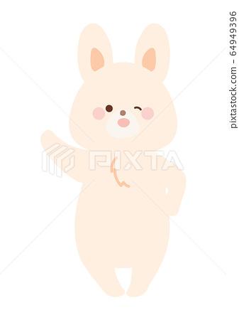 一隻跳舞的兔子 64949396