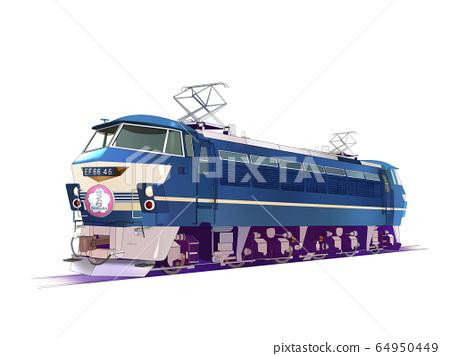 차량 전기 기관차 EF66 64950449