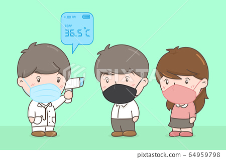 Patient temperature check is pass. Covid-19 Concept. Vector Illustration 64959798