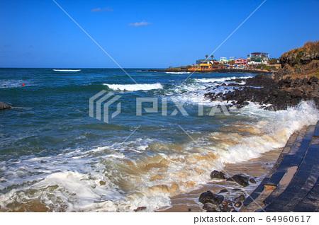 Jeju island ollegil beachside scenery 64960617