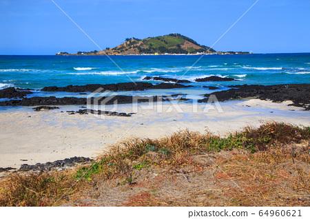 Jeju island ollegil beachside scenery 64960621