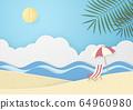 夏日海滩 64960980