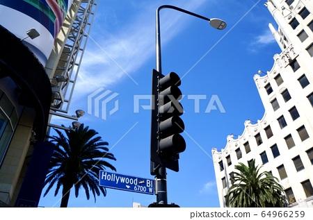 好莱坞大道的标志 64966259