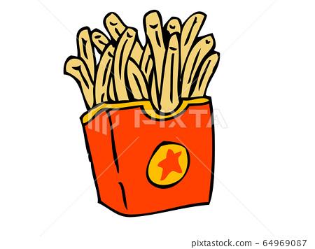 Fried potato 64969087