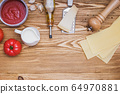 Ingredients for making traditional lasagna. 64970881