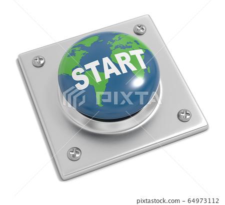 Start the World Concept Illustration 64973112