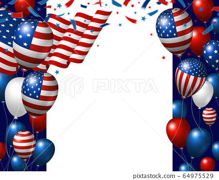 USA 4th of july independence day banner design 64975529