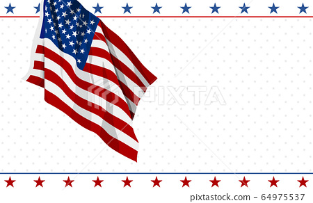 American flag design on white background 4th of july 64975537
