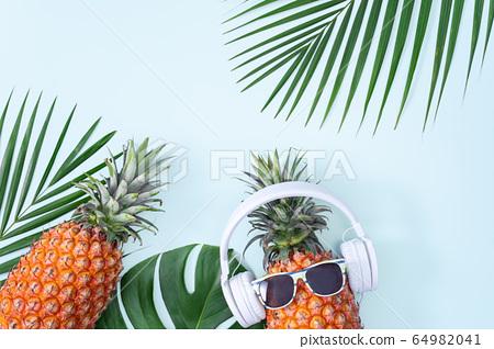 鳳梨入耳器聽音樂蜖圖菠蘿耳機菠蘿耳機 64982041
