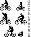 bicyclist silhouettes collection 64986463