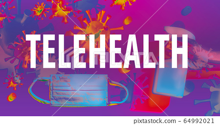 Telehealth theme with face mask and spray bottle 64992021