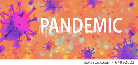 Pandemic theme with viral objects 64992022