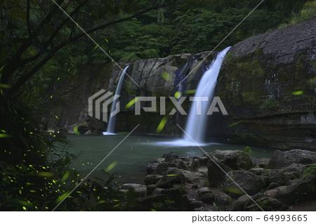 萤火虫,新北市,平溪区,岭脚瀑布,溪流,水 64993665
