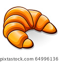Vector croissant design drawing isolated 64996136