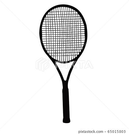 a tennis racket silhouette vector 65015803