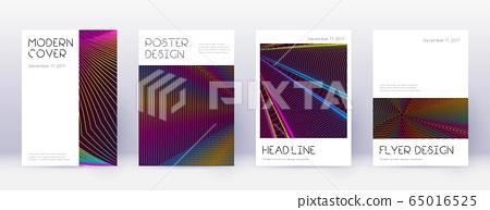 Minimal brochure design template set. Rainbow abst 65016525