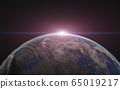 Sunrise over the planet earth 65019217