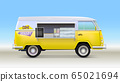Fast food truck with equipment and bar counter 65021694