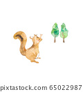 Chipmunk and tree 65022987