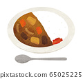 Curry and spoon watercolor 65025225