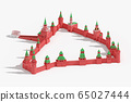 Walls and Towers of Moscow Kremlin - detailed 3d schematic plan 65027444