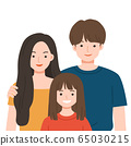 Happy Family with Dad, mom and daughter together. 65030215