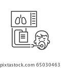 Medical ventilator related vector thin line icon. 65030463