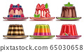 Vector Set of assorted Panna Cotta and Jelly 65030658