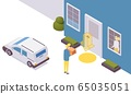 isometric contactless delivery of food, 65035051
