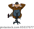 Businessman resting in an office chair 65037077