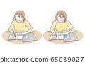 研究女孩笑集 65039027