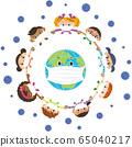 지구와 사람들이 바이러스 감염을 차단 65040217